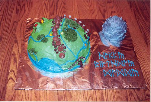 Middle Earth Birthday Cake January 2004