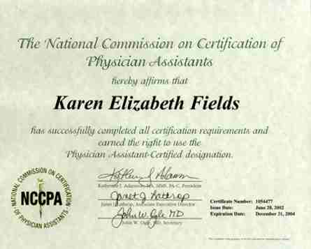 National Commission on Certification of Physicain Assistants by ...